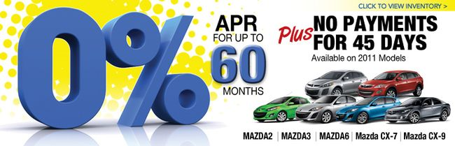 Mazda APR Offer On Models Extended Through May Th - Mazda 0 apr