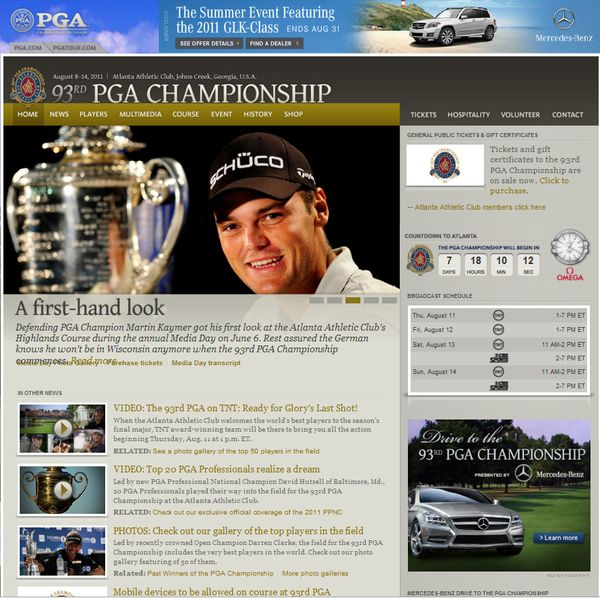 93rd Pga Championship Mobile App Sponsored By Mercedes