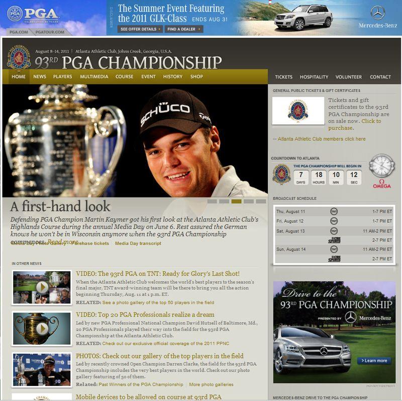 93rd PGA Championship Mobile APP Sponsored By Mercedes