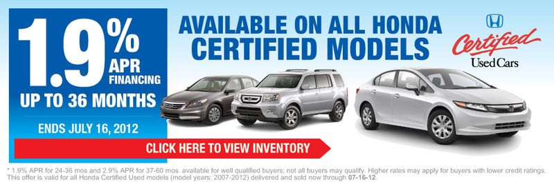 Honda Certified Used Car Event All Models Smail Auto