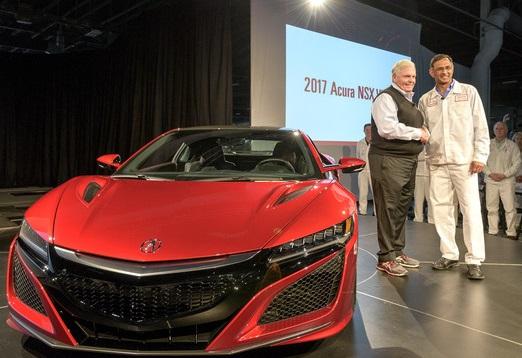 2017 Acura NSX VIN 001