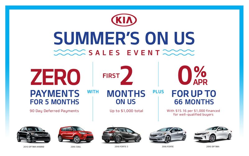 Kia Summer's On Us Sales Event at Smail Kia
